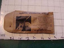 vintage TRICK/GAG/JOKE: 50's or 60's MONROE CIGARETTE JUMPER in bag, cool old