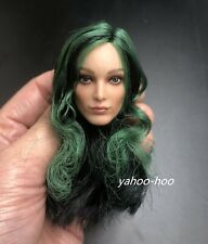 "1/6 Polaris Female GREEN HAIR Head Sculpt THE GIFTED for 12"" PHICEN Figure"