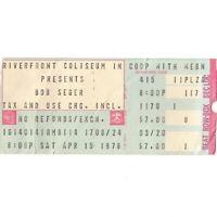BOB SEGER & THE SWEET Concert Ticket Stub CINCINNATI 4/15/78 STRANGER IN TOWN