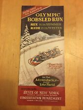 1950's Olympic Bobsled Run Near Lake Placid Pamphlet Excellent Cond.!