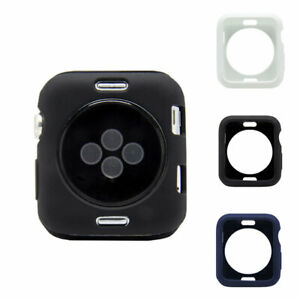 iphone Watch 1/2/3/4/5 Silicone Case Soft Protection Watch Shell Skin Cover New