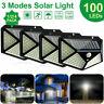 100LED Solarleuchte Wandleuchte mit Bewegungsmelder Garage Außenlampe Licht .