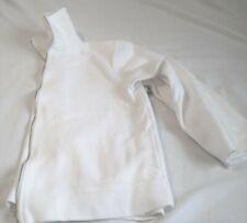 Talbots White Zip Knit Jacket~Long-sleeves~Pockets~100% Cotton~Large