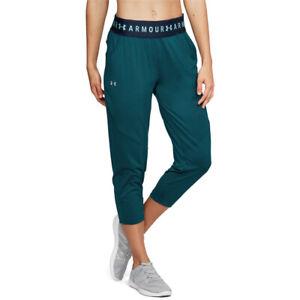 Under Armour HeatGear Ladies Tourmaline Bottoms Sports Loose Crop 3/4 Pants