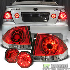 4pc 2001-2005 Lexus IS300 LED Tail Lights+SMD Inner Trunk Brake Signal Lamps Set