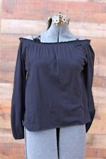 Chaser Black Off the Shoulder Top NEW XS Cotton Peasant Top