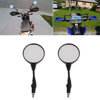 2pcs 10mm Round Motorcycle Folding Rearview Side Mirror For Honda Suzuki KTM ATV