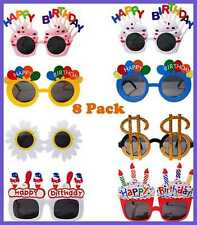 8 Pack Fuovt Birthday Sunglasses Novelty Funny For Kids Adults Great Gift Happy