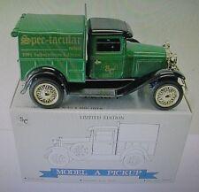 *Ford Model A Pickup Truck Spec-tacular News 1/25 DC Bank 1991 Spec Cast Toy
