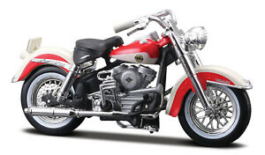 Harley-Davidson 1958 Flh Duo Glide 1:24 Motorcycle Model Die-Cast