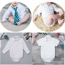 Baby Boy Outfit Smart Shirt Formal Bodysuit Romper Suit Long Sleeve Body Shirt