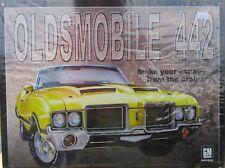 Gm Oldsmobile 442 Tin Sign Nib
