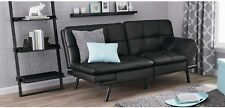 Futon Sofa Bed Couch Sleeper Convertible Full Size Memory Foam Mattress Black