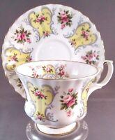 Royal Albert Suzanne Bone China Tea Cup & Saucer - Love Story Series - England