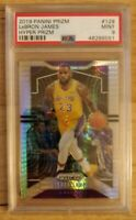 2019-20 Lebron James Panini Prizm Hyper #129 PSA 9 Los Angeles Lakers