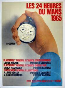 Porsche Factory poster Le Mans 1965 ~ guaranteed original & archival linen mtd.