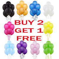 25 X Latex PLAIN BALLOONS helium Quality Party BALOONS Birthday Wedding BALLONS