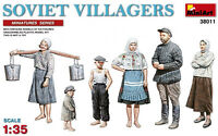 Miniart 38011 Soviet Villagers Special Edition Plastic Figures Model Kit 1/35