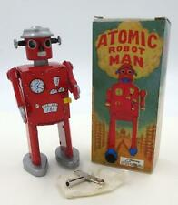 Tin Wind-Up Red Atomic Robot Man Limited Edition