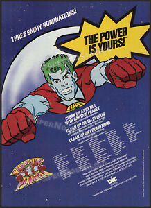 CAPTAIN PLANET and the Planeteers__Original 1991 Trade AD / poster__DIC__Tiger