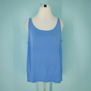 Eileen Fisher Size Extra Large XL Camisole Silk Sleeveless Blue Top Tank System
