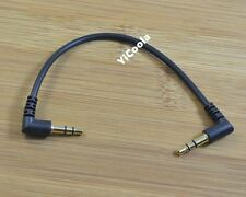 Short 10cm Universal Right Angle 3.5mm Male to Male Speaker Stereo Audio Cable