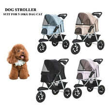 New 3 Wheels Pet Stroller Cat Dog Cage Stroller Safe Pet Gift Pet Home 4 Color