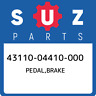 43110-04410-000 Suzuki Pedal,brake 4311004410000, New Genuine OEM Part