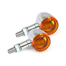 Intermitentes mini Bullet smooth, cromo, para harley-davidson con marca de verificación e