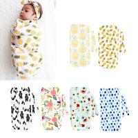 2Pcs/Set Newborn Swaddle Blanket Baby Cocoon Sleeping Bag Muslin Wraps Headband