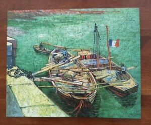 """Liberty Jigsaw Puzzle """"Barges on the River Rhone""""  Vincent Van Gogh 384 pieces"""