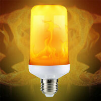 9W E27 LED Flicker Flame Fire Effect Simulated Light Bulb New White Decor Lamp