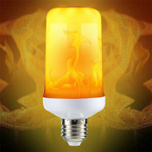 9W E27 LED Flicker Flame Fire Effect Simulated Light Bulb New White Decor Lamp