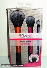REAL TECHNIQUES DUO FIBER COLLECTION 3 PCS SET makeup brushes
