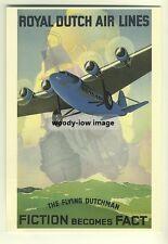 ad2737a  -  KLM,  Royal Dutch Airlines   -  modern poster advert postcard
