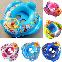 Cartoon Print Inflatable Car Baby Kids Safety Swimming Pool Float Seat Boat Ring