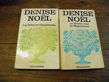Lot de 2 livres de Denise Noël