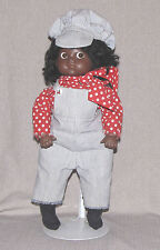 """18"""" Black Bisque Doll Glass Side Glance Eyes 1977 Reproduction African American"""