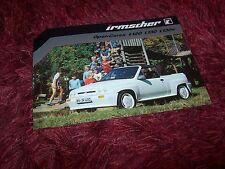 Prospectus / Single sheet brochure OPEL Corsa IRMSCHER Cabrio 1983 //