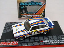 FORD ESCORT RS1800 #2 VATANEN RALLY 1000 LAKES LAGOS 1981 1/43 IXO ALTAYA