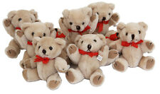12 x Jointed 12cm Craft Bear / Soft Toy - Light Brown - for craft/parties/kids!