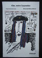 CHE GUEVARA / Cuba Silkscreen Movie Art Poster / Death of Cuban Hero in Bolivia