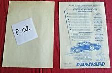 P.02 / PANHARD  DYNA   rare prospectus 1955