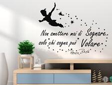 Adesivi murali decorazione Adesivi murali frasi Peter Pan wall stickers frasi