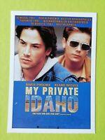 """German Advertising Movie Postcard.""""My Private Idaho"""" Keanu Reeves.River Phoenix"""