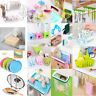 Kitchen Sink Sponge Holder Bathroom Hanging Strainer Organizer Storage Rack