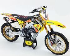 James STEWART SUZUKI RMZ 450 Motocross Moto Modello NEWRAY TOYS-SCALA 1/6