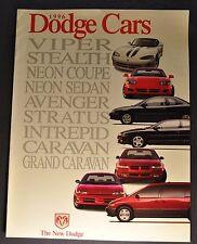 1996 Dodge Brochure Viper Stealth Neon Avenger Stratus Intrepid Caravan Original
