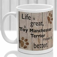 Toy Manchester Terrier dog mug, Terrier gift, ideal present for dog lover