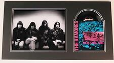 "RAMONES Signed Autograph ""Real Cool Time"" 45 rpm 7"" Vinyl Record Display x4"